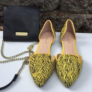 Shoe Dazzle yellow flats